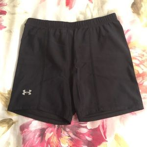 Black Under Armour Compression/Volleyball Shorts